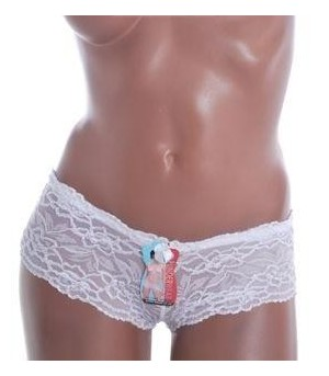 Shorty Dentelle Blanc